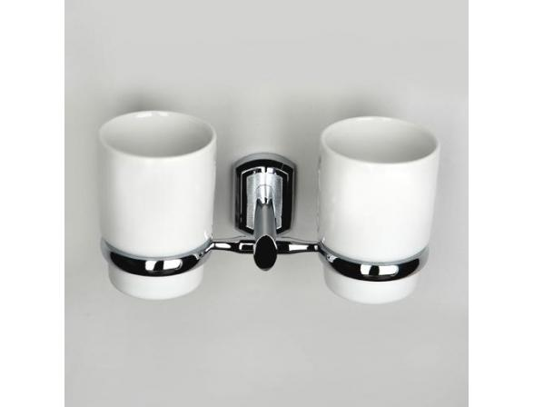 Подстаканник WasserKRAFT Oder двойной К-3028DС, керамика