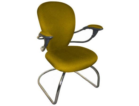 Кресло посетителя на полозьях BURO CH-661AXSN-V/Yellow