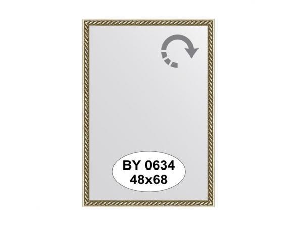 Зеркало в багетной раме EVOFORM витая латунь (48х68 см) BY 0634
