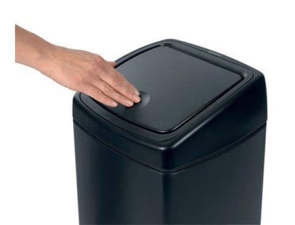 Мусорный бак Brabantia TOUCH BIN (25л) 415906 матовый черный