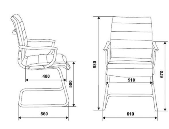 Кресло на полозьях BURO CH-994AV