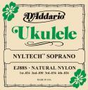 Струны для укулеле сопрано D'ADDARIO Nyltech EJ88S