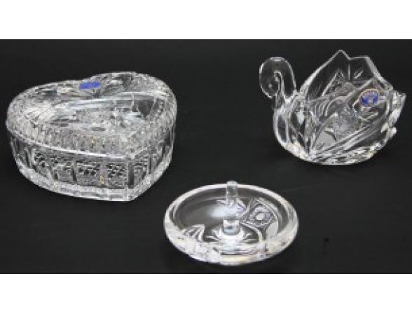 Набор для дам Crystalite Bohemia Heritage*3 Шкатулка/конфетница/подставка для колец