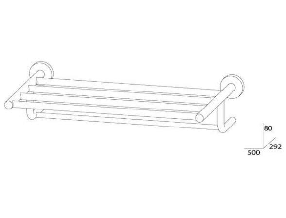 Полка для полотенец ARTWELLE HARMONIA 50 см HAR 032