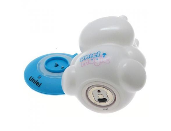Светильник-ночник Uniel DTL-305-Бегемотик/3color/Base blue/Rech
