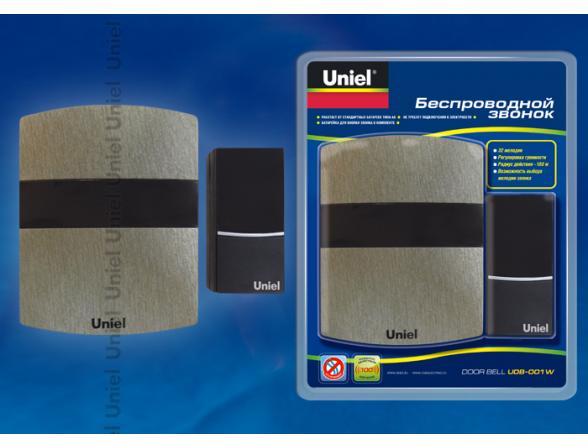 Звонок беспроводной Uniel UDB-001W-R1T1-32S-100M-DS