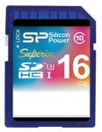Флэш память Silicon Power 16 Gb SDHC Card Class 10 UHS-I U3  Superior