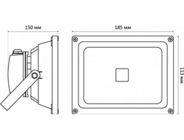 Светодиодный прожектор X-flash Floodlight IP65 20 Вт, белый свет 43309