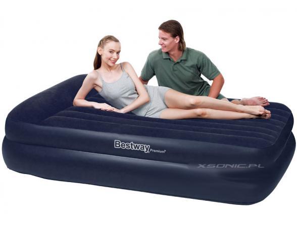 Кровать надувная со встроенным насосом Bestway Premium Air Bed Queen 67403