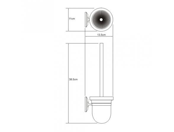 Щетка для унитаза WasserKRAFT Rhein К-6227C, подвесная, керамика