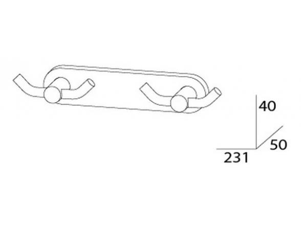 Планка с двумя двойными крючками ARTWELLE HARMONIA HAR 008