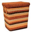 Короб Natural House оранжевый с ручками с крышкой L