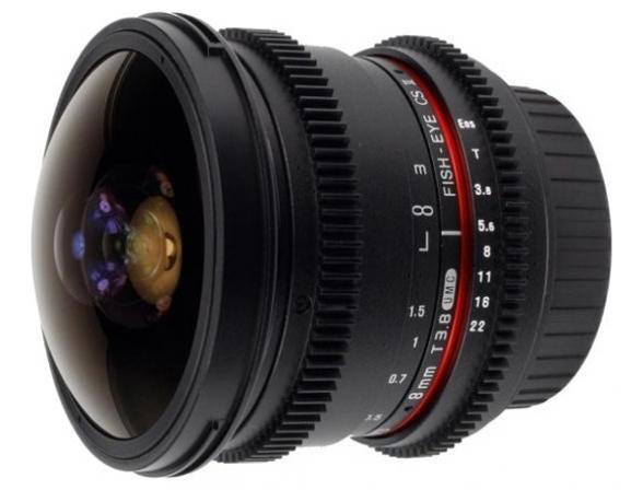 Объектив Samyang 8mm T3.8 AS IF UMC Fish-eye CS II VDSLR Canon EF