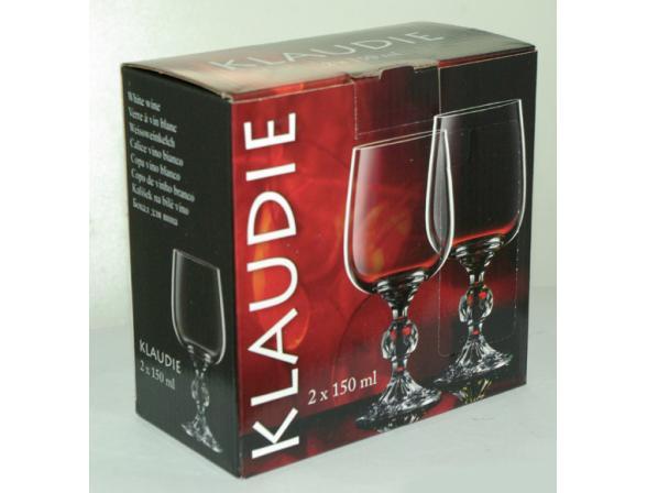 Набор бокалов для вина Bohemia Crystall Клаудия/20732S/150  х 2