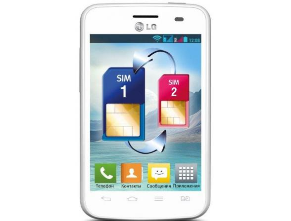 Смартфон LG Optimus L3 II Dual E435 White