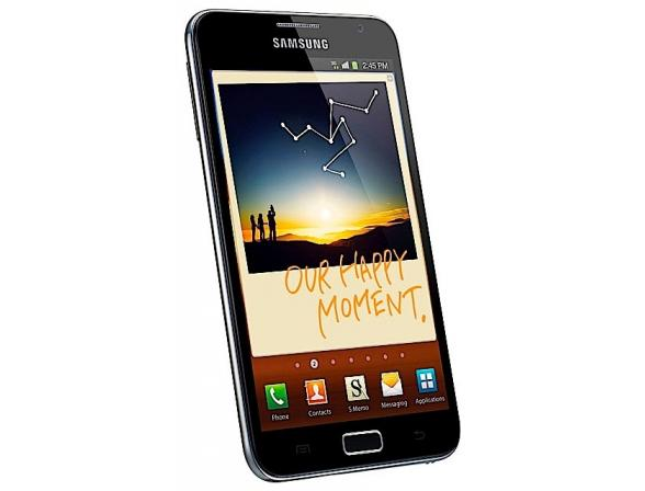 Смартфон Samsung GT-N7000 Galaxy Note синий