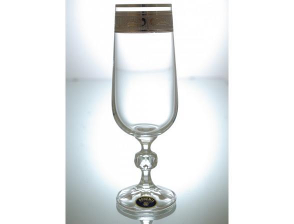 Набор бокалов для шампанского Bohemia Crystall Клаудия/378500K/180/