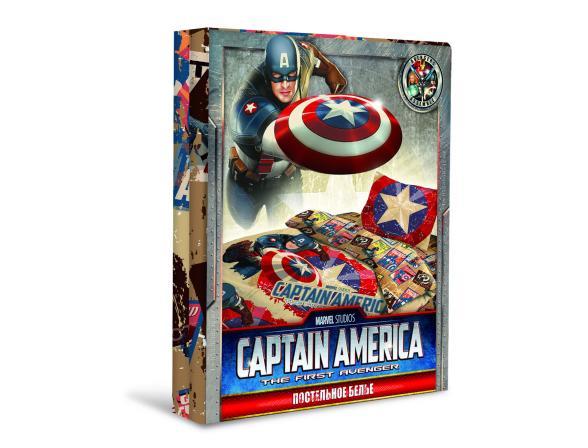 Комплект постельного белья Нордтекс Капитан Америка 1,5сп