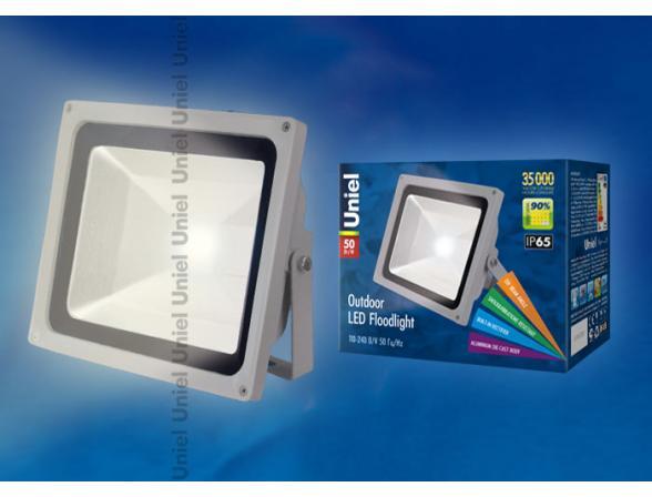 Прожектор Uniel ULF-S01-50W/WW IP65 110-240В