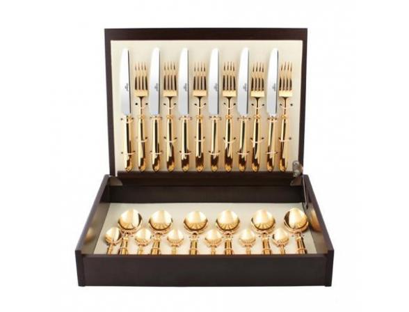 Набор столовых приборов CUTIPOL MITHOS GOLD 9151-72 72 пр.