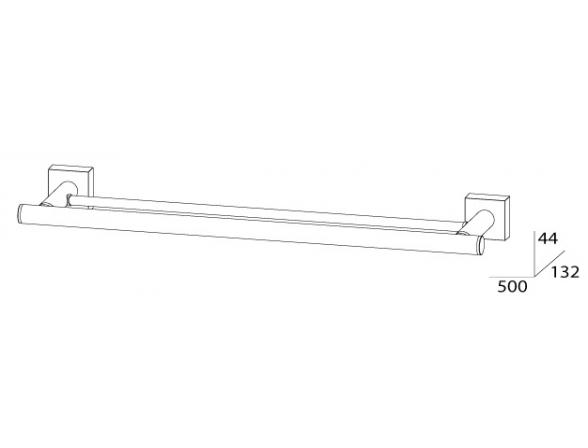 Держатель полотенец двойной FBS ESPERADO 60 см ESP 037