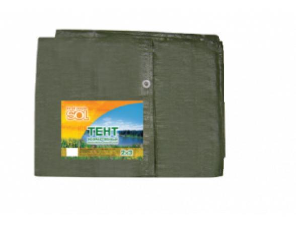 Тент Sol SLTP-006.04 8x10м Зеленый, терпаулинг