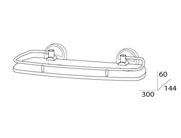 Полка с ограничителем FBS ELLEA 30 см ELL 013