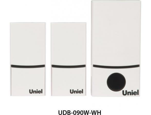 Звонок беспроводной Uniel UDB-090W-R1T2-32S-100M-WH