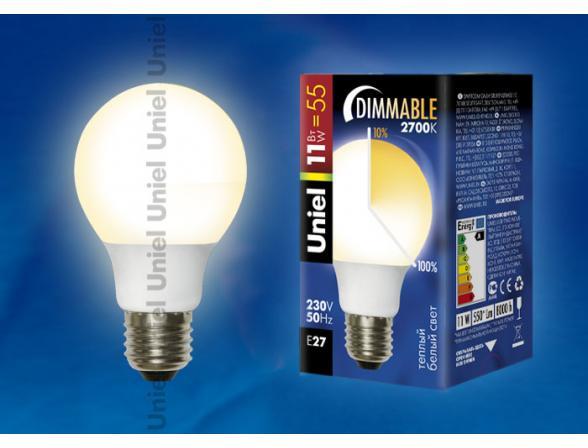 Лампа энергосберегающая Uniel ESL-D-G60-11/2700/E27 диммируемая