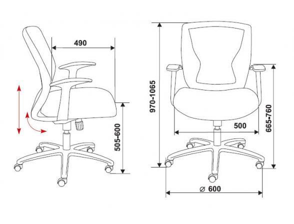 Кресло BURO CH-897/BL/TW-10