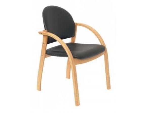 Кресло посетителя бук BURO KH-01Beech/9014