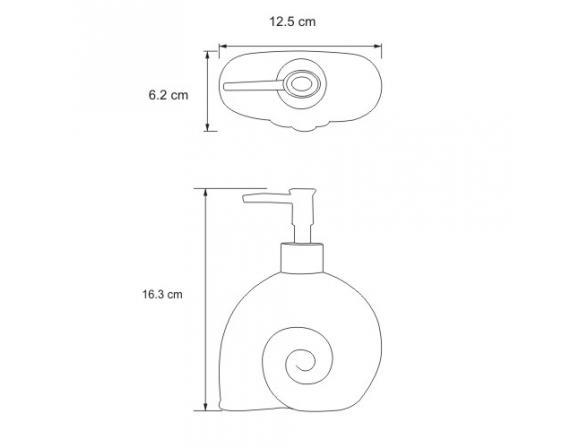 Дозатор для жидкого мыла WasserKRAFT Isen K-2199