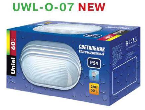 Светильник пылевлагозащищенный Uniel UWL-O-07-060-Black