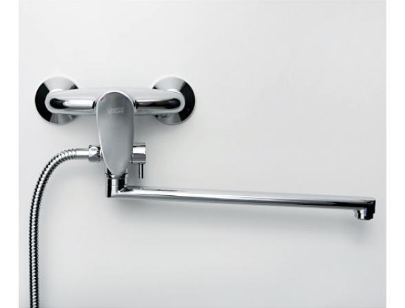 Смеситель для ванны  с длинным поворотным изливом WasserKRAFT Leine 3502L