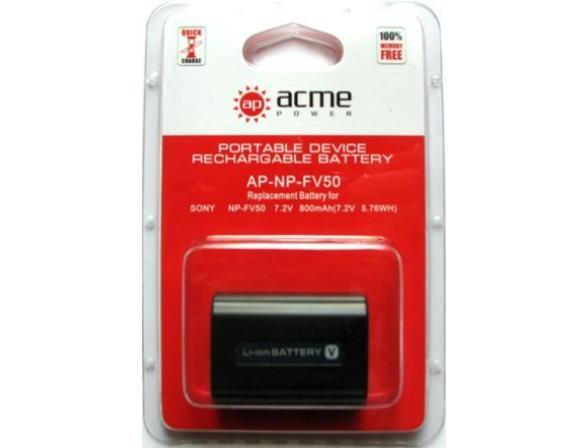 Аккумулятор AcmePower NP-FV50 (7.4V 800 mAh, Li-ion) для Sony