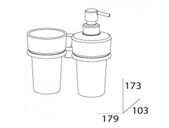 Держатель со стаканом и емкостью для жидкого мыла FBS ESPERADO ESP 008