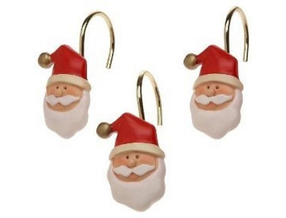 Набор из 12 крючков для шторки CARNATION Santa Claus