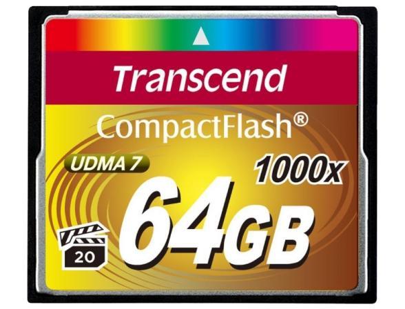 Флэш память Transcend 64Gb Compact Flash TS64GCF1000
