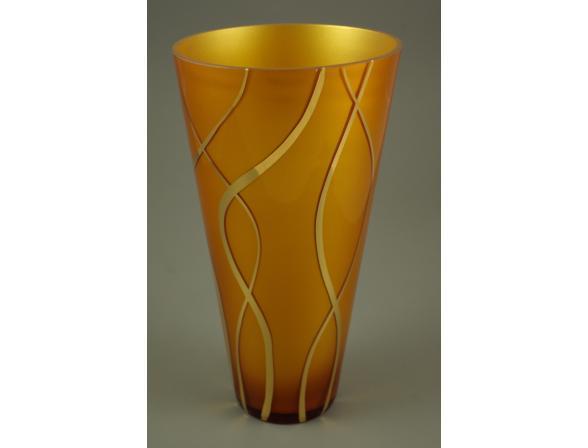 Ваза Crystal Art 27 см, 60032 (янтарь)