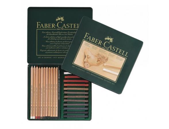 Набор для рисования Faber Castell PITT® MONOCHROME и PITT® PASTEL 25 предметов