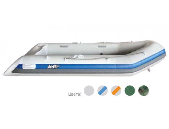 Лодка надувная JET! SYDNEY 430 PL, цвет серый/синий