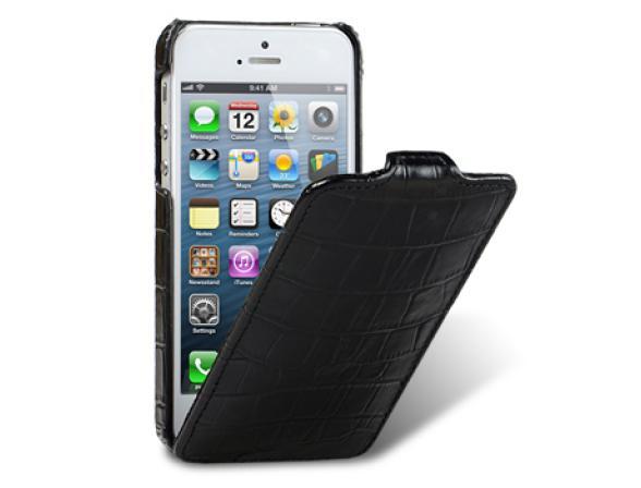 Чехол Melkco Premium Leather Case for Aplle iPhone 5 -  Jacka Type (Crocodile Print Pattern-White)