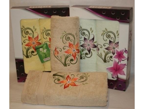 Комплект полотенец ARYA Oran Merzuka  2 пр. Violet
