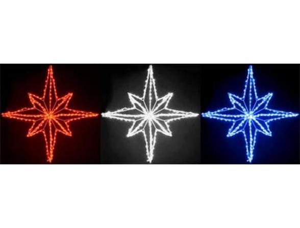 Звезда светодиодная Rich LED 30 см, цвет: красный