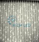 Светодиодный занавес Rich LED 2*3 м, цвет: теплый белый. Черный резиновый провод