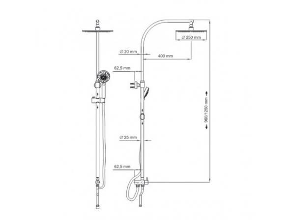 Душевой комплект WasserKRAFT А025