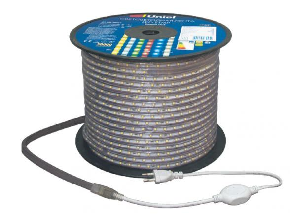 Светодиодная лента Uniel ULS-5050-30LED/m-14mm-IP67-220V-7,2W/m-100M-RGB бобина