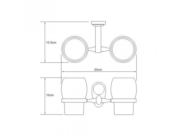 Подстаканник WasserKRAFT Main двойной К-9228DC, керамика