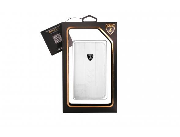 Кожаная книга-чехол Promate для iPhone 5 Lamborghini Performate-D1 (белая)