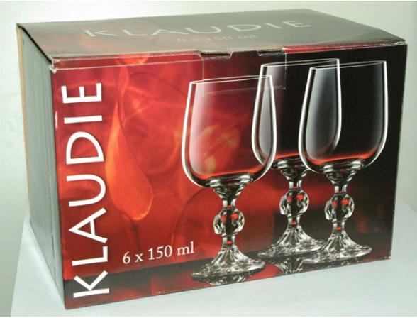 Набор бокалов для вина Bohemia Crystall Клаудия/20733S/150